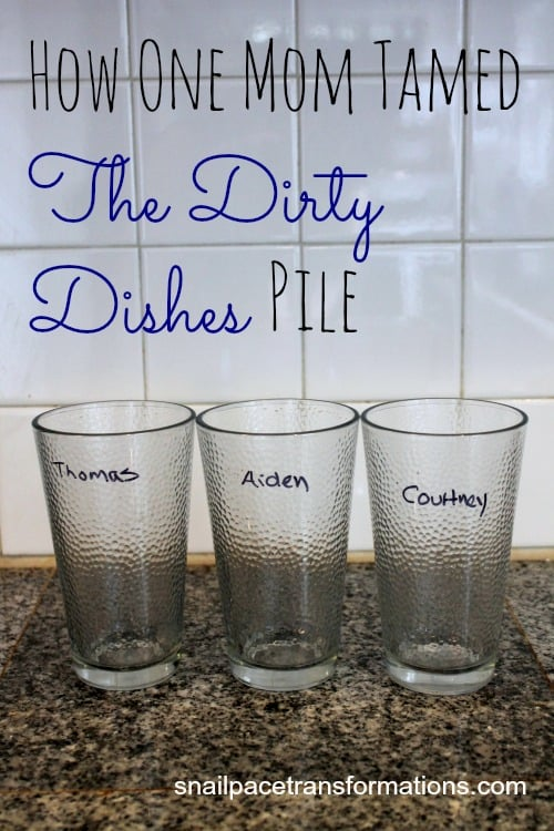 how one mom tamed the dirty dishes pile