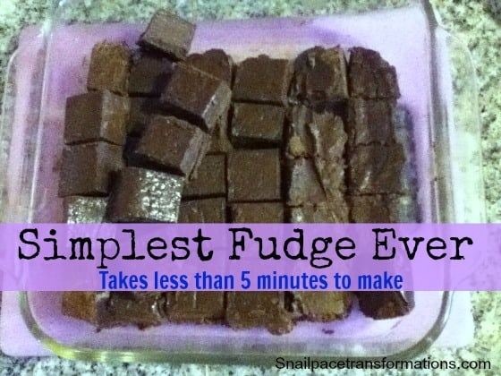 simplest fudge ever