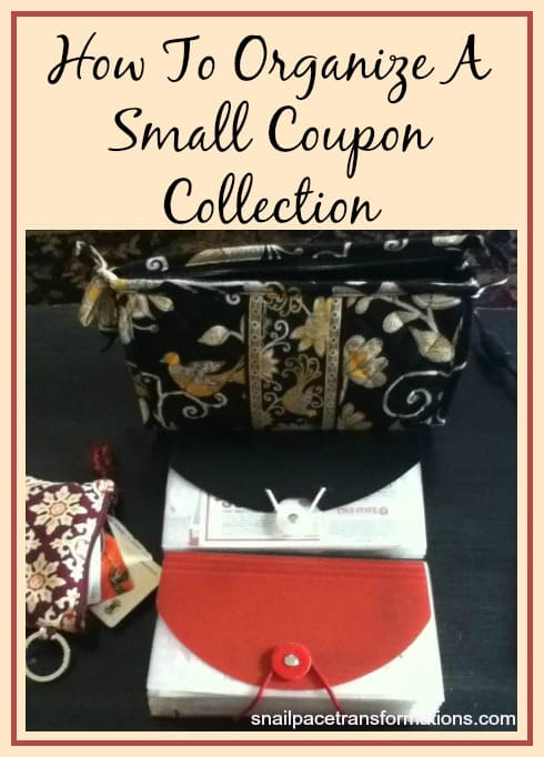 How to Organize A Small Coupon Collection