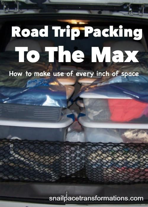 How to pack your vehicle for a road trip so that every inch of space is used effectively