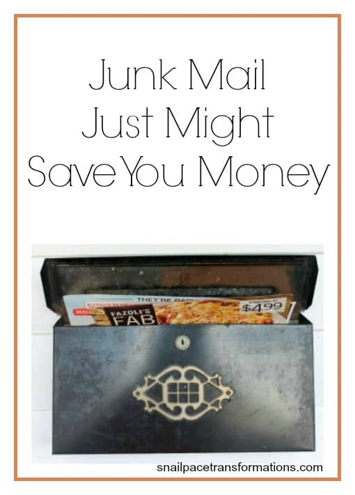 Junk mail just might save you money