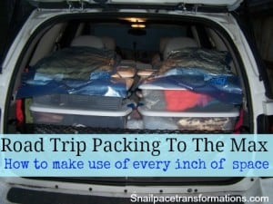 Road Trip Packing To The Max