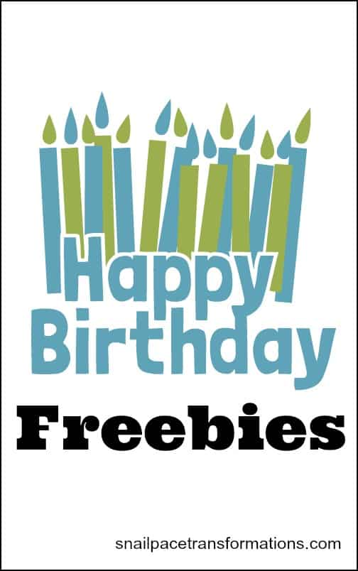 Happy Birthday Freebies available from restuarants around the mid west