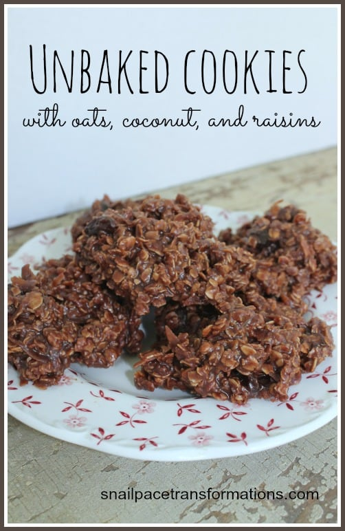 Recipe For Unbaked Cookies / No-Bake Cookies / Haystack Cookies