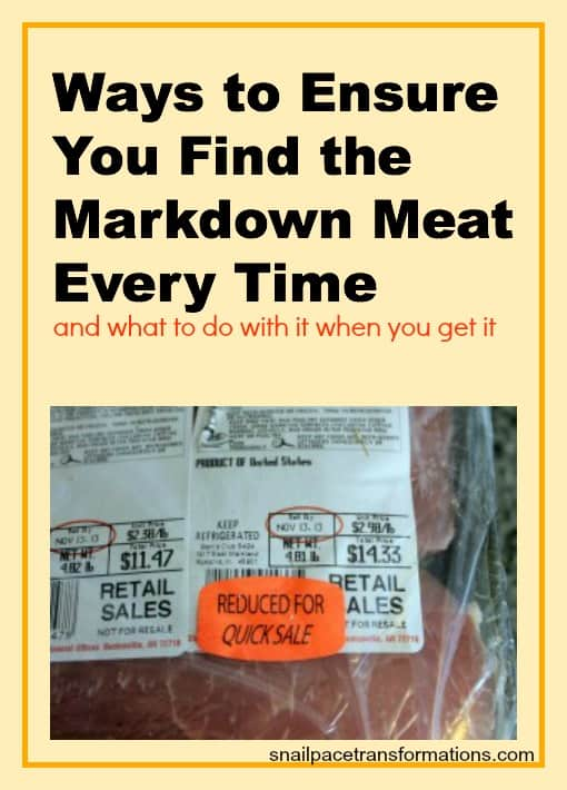 ways to ensure you you find the markdown meat every time