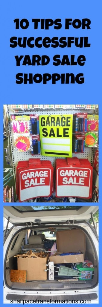 10 Tips For Successful Yard Sale Shopping
