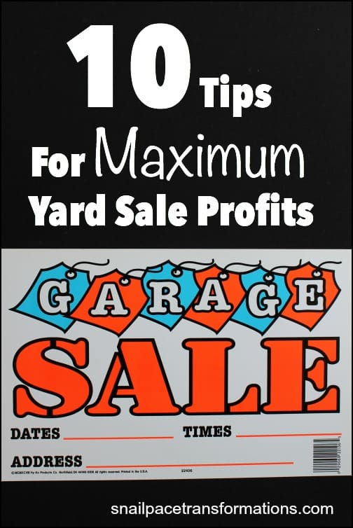 10 tips that will help you maximize your yard sale profits