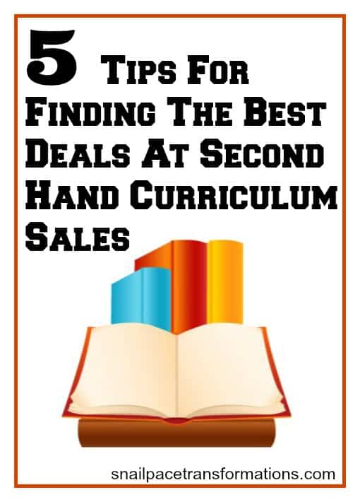 5 tips for finding the best deals at second hand curriculum sales