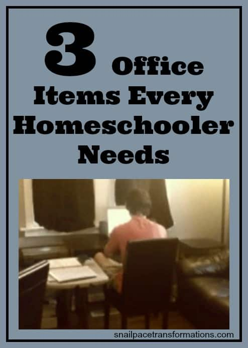 3 office items every homeschooler needs
