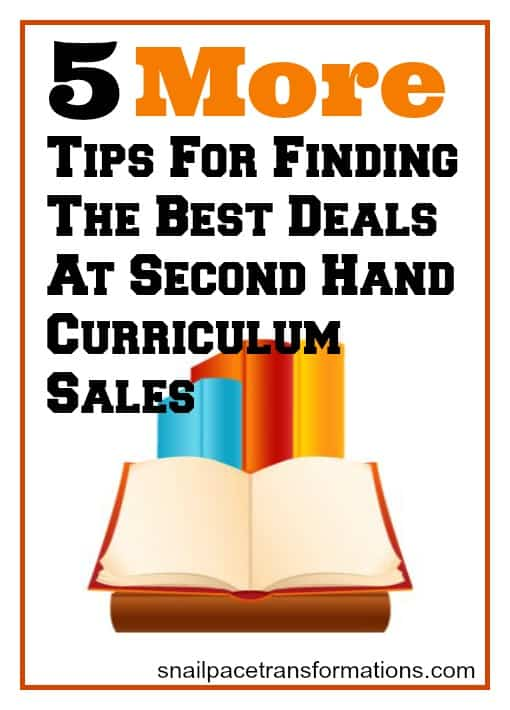 5 more tips for finding the best deals at second hand curriculum sales