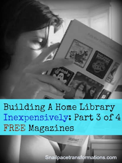 Building a home library inexpensively part 3 magazines for Free home magazines