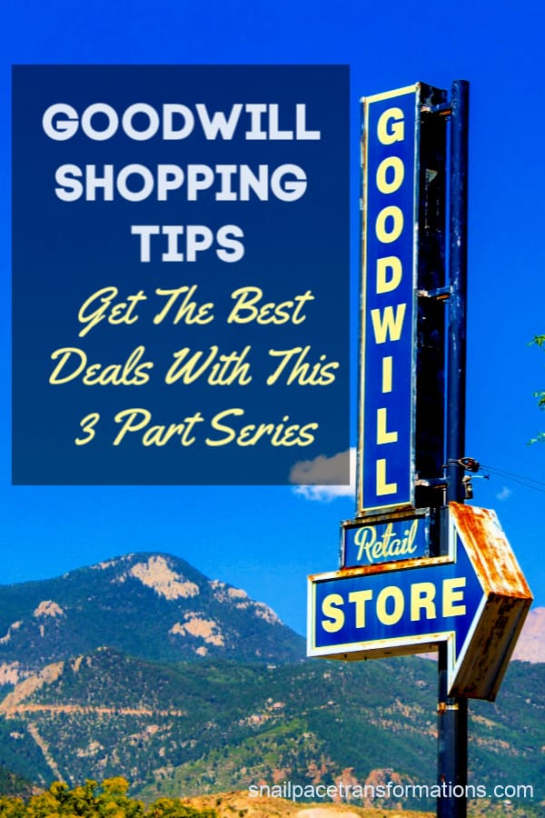 Goodwill shopping tips: A 3 part series that will have you scooping up the BEST deals at Goodwill. #thriftyliving #thrifting