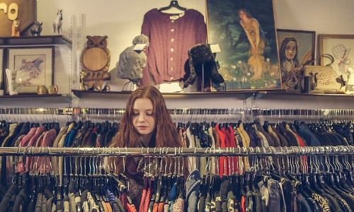 Goodwill Shopping tip: Position yourself as you shop so the front of each item is facing you.