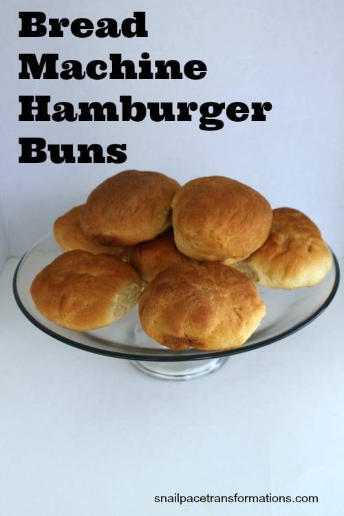 bread machine hamburger buns