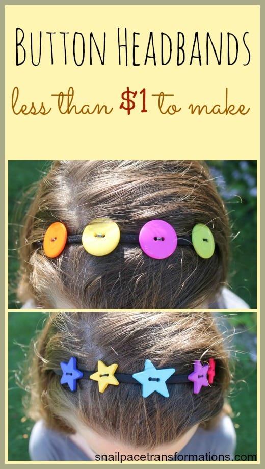 button headbands less than $1 to make