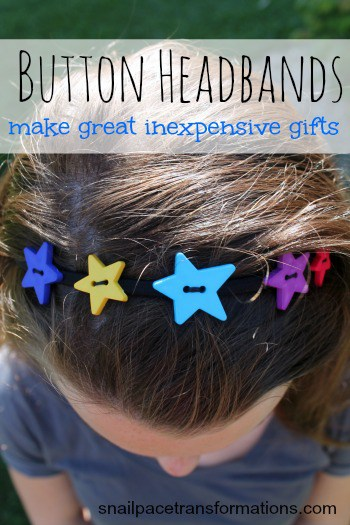 button headbands make great inexpensive gifts