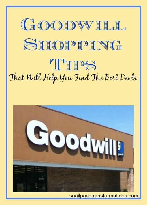 goodwill shopping tips