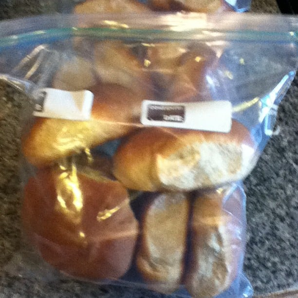 These bread machine hamburger buns freeze well too.