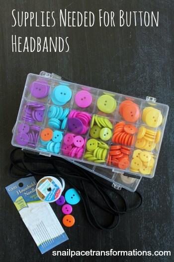 supplies needed for button headbands
