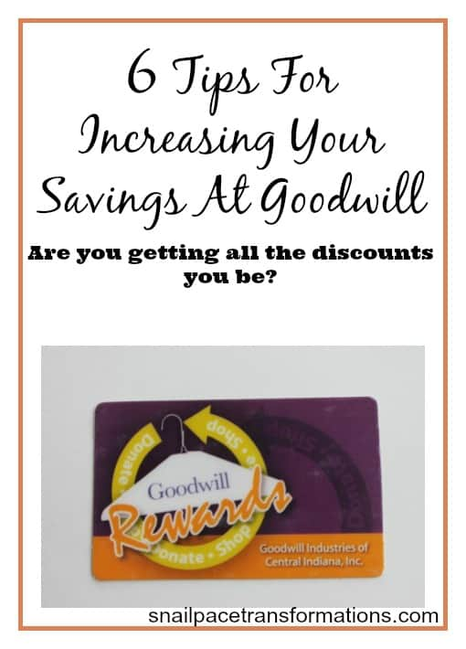 6 tips for increasing your savings at goodwill