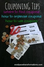 Couponing Tips Where to find coupons, how to organize coupons, how to use coupons (small)