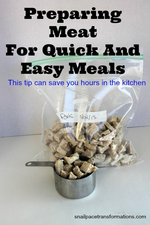 preparing meat for quick and easy meals