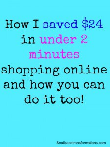 How I save $24 in under 2 minutes