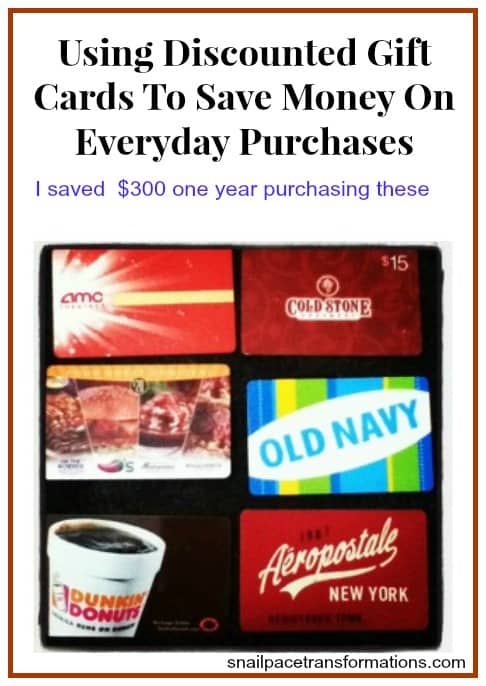 using discounted gift cards to save money on every day purchases