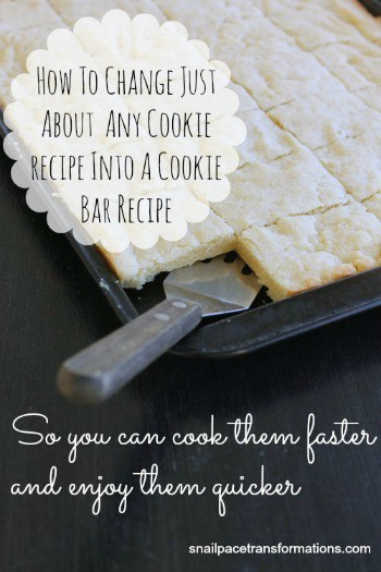 How to change just about any cookie recipe into a cookie bar recipe (medium)