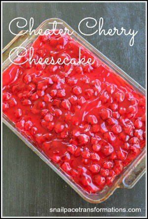 cheater cherry cheesecake (medium)