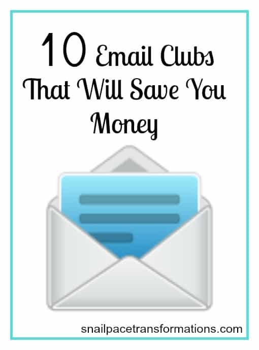 10 email clubs that will save you money