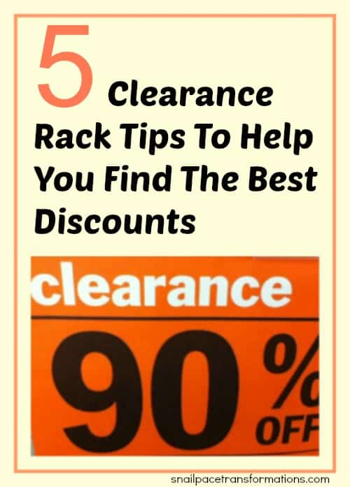 5 clearance rack tips