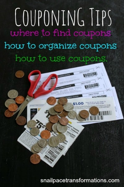 Couponing Tips Where to find coupons, how to organize coupons, how to use coupons (med)