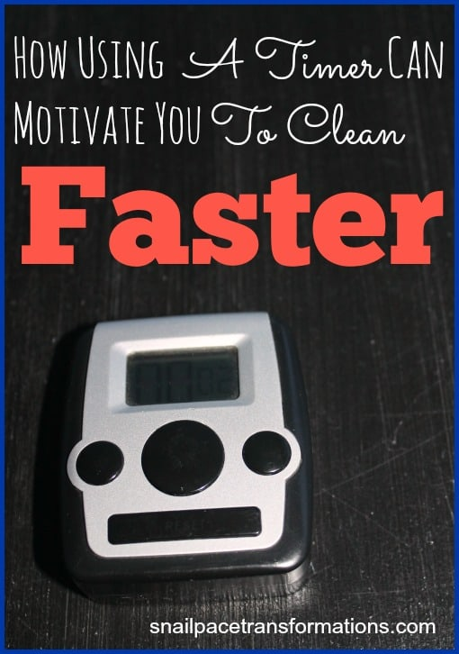 How using a timer can motivate you to clean faster