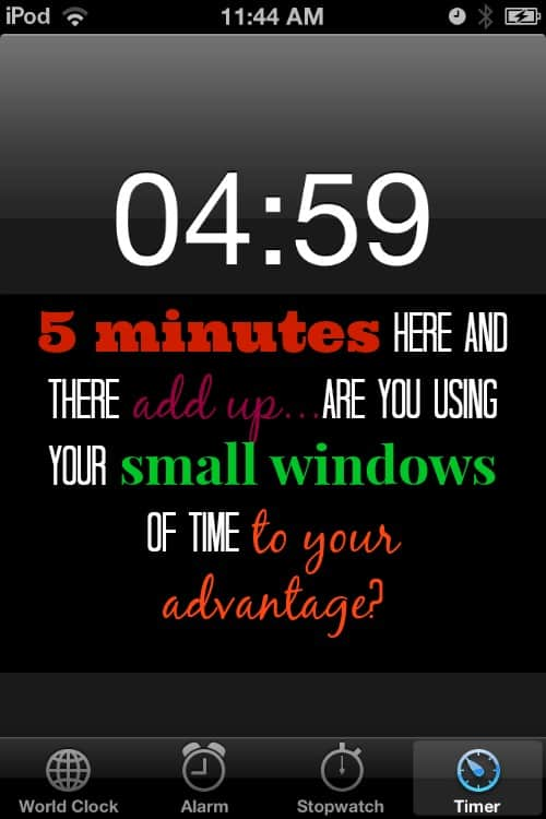 Making the most of your small windows of time