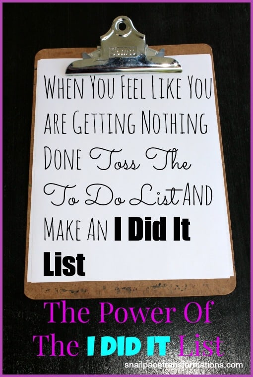 The power of the i did it list