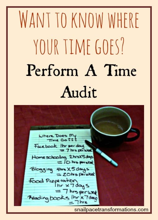 Want to know where your time goes Perform a time audit