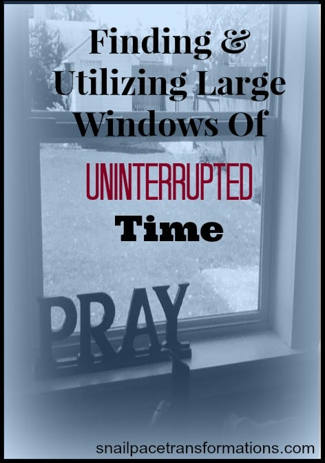 finding and utilizing large windows of uninterrupted time