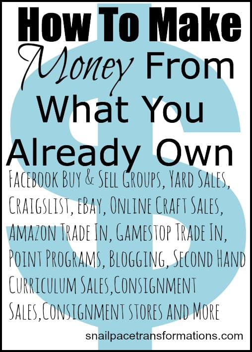 how to make money from what you already own