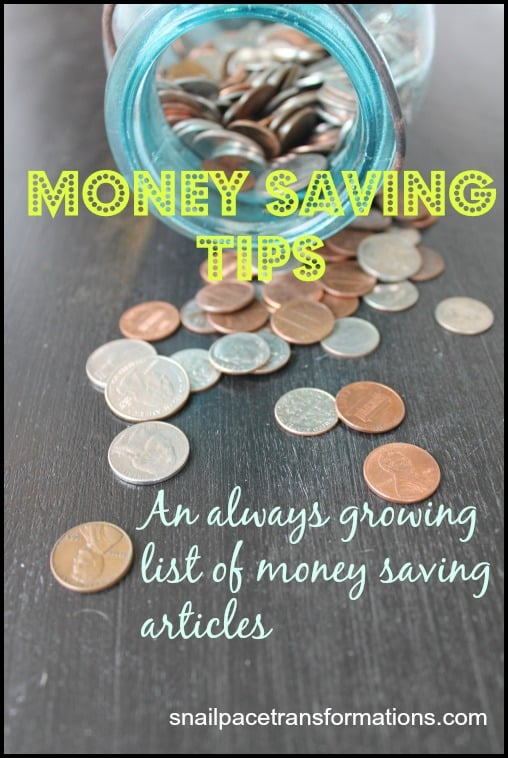 money saving tips a growing list