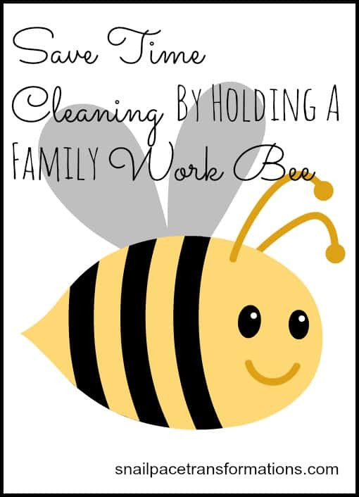 save time cleaning by holding a family work bee