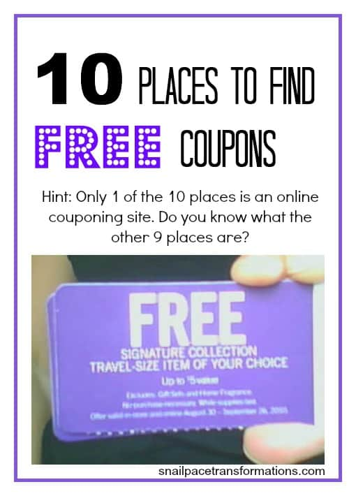 10 places to find coupons
