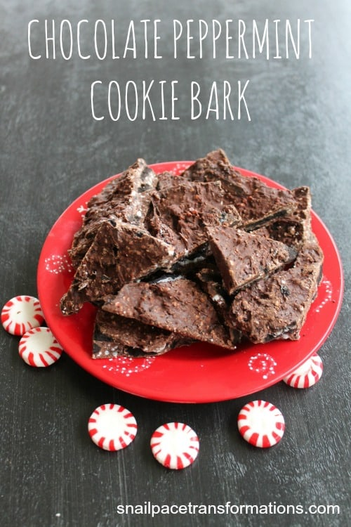 chocolate peppermint cookie bark