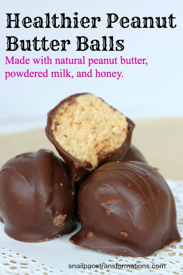 healthier peanut butter balls