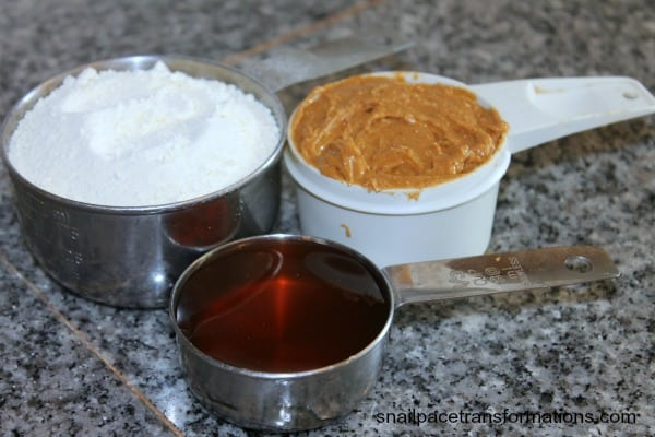 ingredients for natural peanut butter balls
