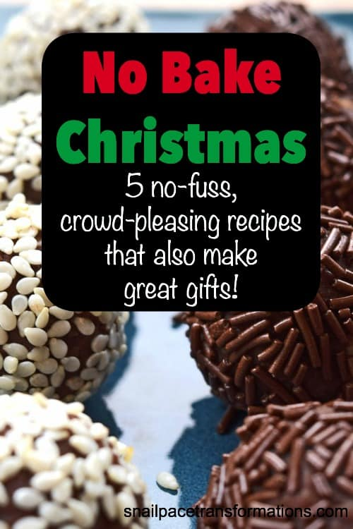 No Bake Christmas treats: A list of 5 no bake recipes that make great Christmas gifts.