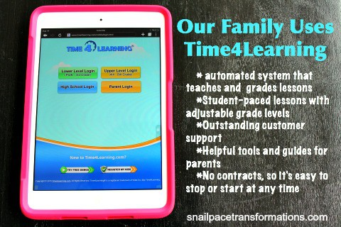 Our family uses time4learning.com, use our referral! | Snail Pace Transformations