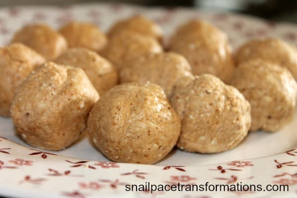 These peanut butter balls take just a few minutes to make and a few ...