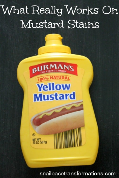what really works on mustard stains