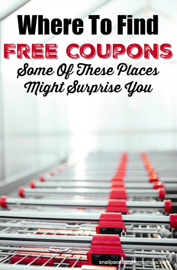 Find free coupons in spots you have never thought of before! #couponing #savemoney #thrifty #frugal